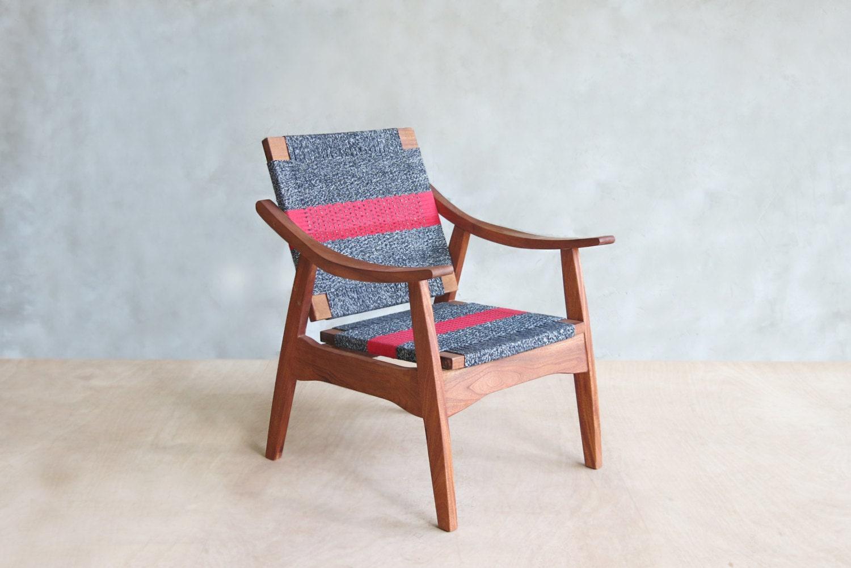 red stripe mid century modern armchair by masayatradingcompany