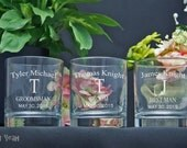 Whiskey Glasses / Personalized / Engraved / Groomsmen Gifts / Rocks Glasses / Scotch Glasses / Wedding Party Gifts / 16 DESIGNS