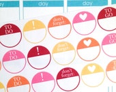 Fun Circle Reminder #02 Planner Stickers- 21 count