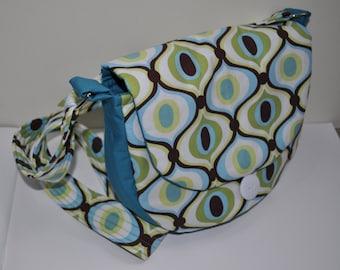 Retro handmade fabric handbag