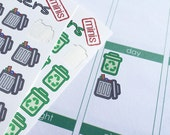 Mini Recycling and Trash Stickers!! Decorate your Erin Condren, Plum Paper, Filofax and other planners. Stay organized with Life Stickers.