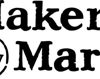 Makers Mark Bourbon Cornhole Decals (Set of 2)