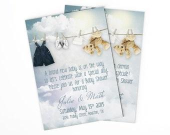Baby shower invitation, printable shower invitation, baby printables, baptism invitation, birth announcement