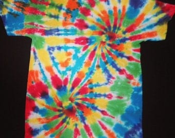 Double Spiral Tie-Dye Shirt, Adult sizes, Rainbow