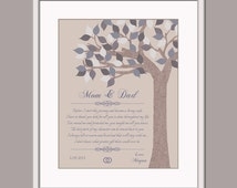 Mom and Dad Wedding Gift - Gift From Bride - Thank You Poem Parents of ...