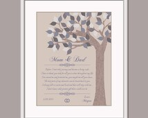 Wedding Thank You Gifts For Parents Uk : Mom and Dad Wedding Gift - Gift From Bride - Thank You Poem Parents of ...