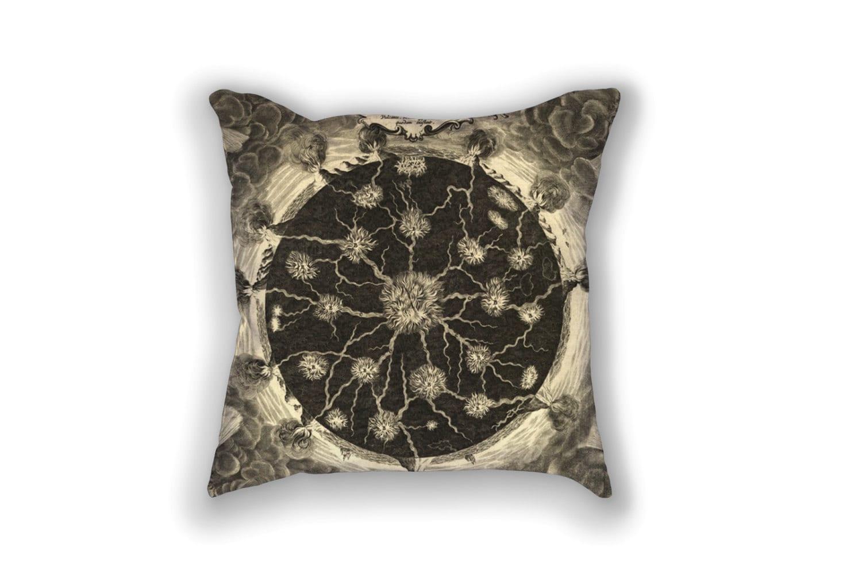 Decorative Pillow - Athanasius Kircher Fires Antique Print - Throw Pillows - Home Decor Accent ...