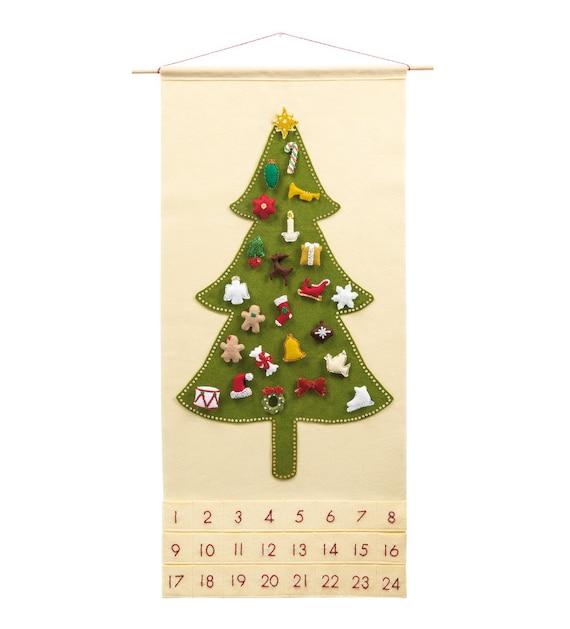 christmas advent calendar pattern wool felt christmas