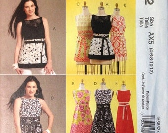 McCalls M5882 - A-Line Sleeveless Tunic and Dress - Size 4-12  OR 4-18