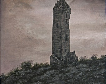 Limited Edition Fine Art Giclee Print National Wallace Monument, Scotland