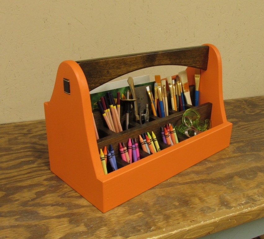 Professional art caddy art supply box crayon caddy tool for Professional painting supplies