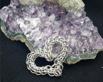 Full Persian Chainmaille Heart Pendant