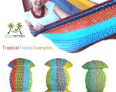 Tropical Hammock - Traditional Hammock - 100% Hand Woven -  Available in Multible Sizes!