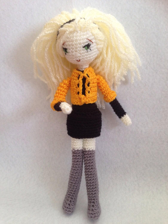 Amigurumi Hello Kitty Crochet Pattern : Amigurumi Blonde Girl PDF PATTERN