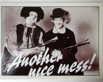 Another Nice Mess! Laurel and Hardy Postcard