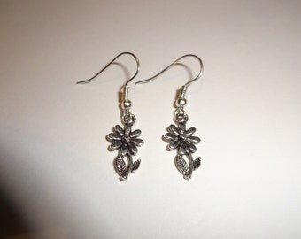 Flower Earrings, Silver Earrings, Charm Earrings, Floral earrings, Floral Jewellery, Gifts