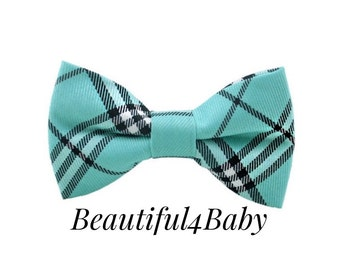 Turquoise Baby Bow Tie, Turquoise Toddler Bow Tie, Turqoise Little Boy Bow Tie, Baby Bow Tie, Toddler Bow Tie, 6 Mo to 5 Years