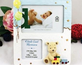 Personalised Baby Birth Details Frame- Boy & Girl Designs