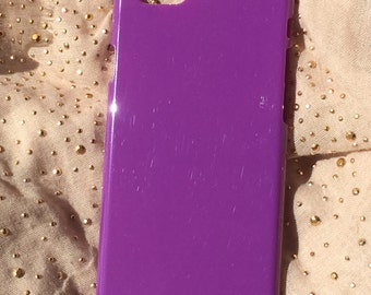 DIY dark purple hard plastic for iphone 6 case. for deco phone decoden and bling. housing of plastic dark lilac