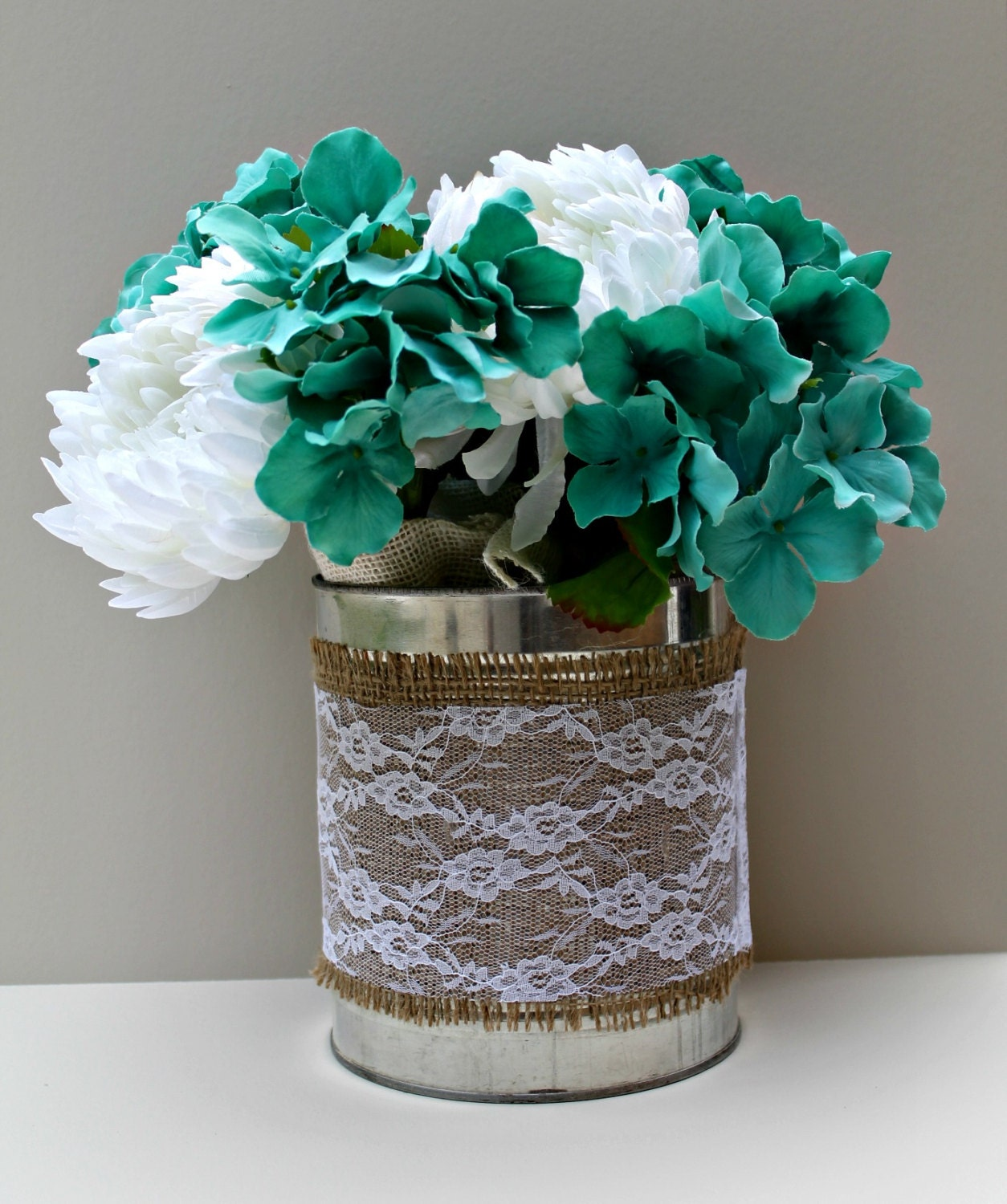 Wedding centerpiece rustic flower vase by sweetsouthrnserenity