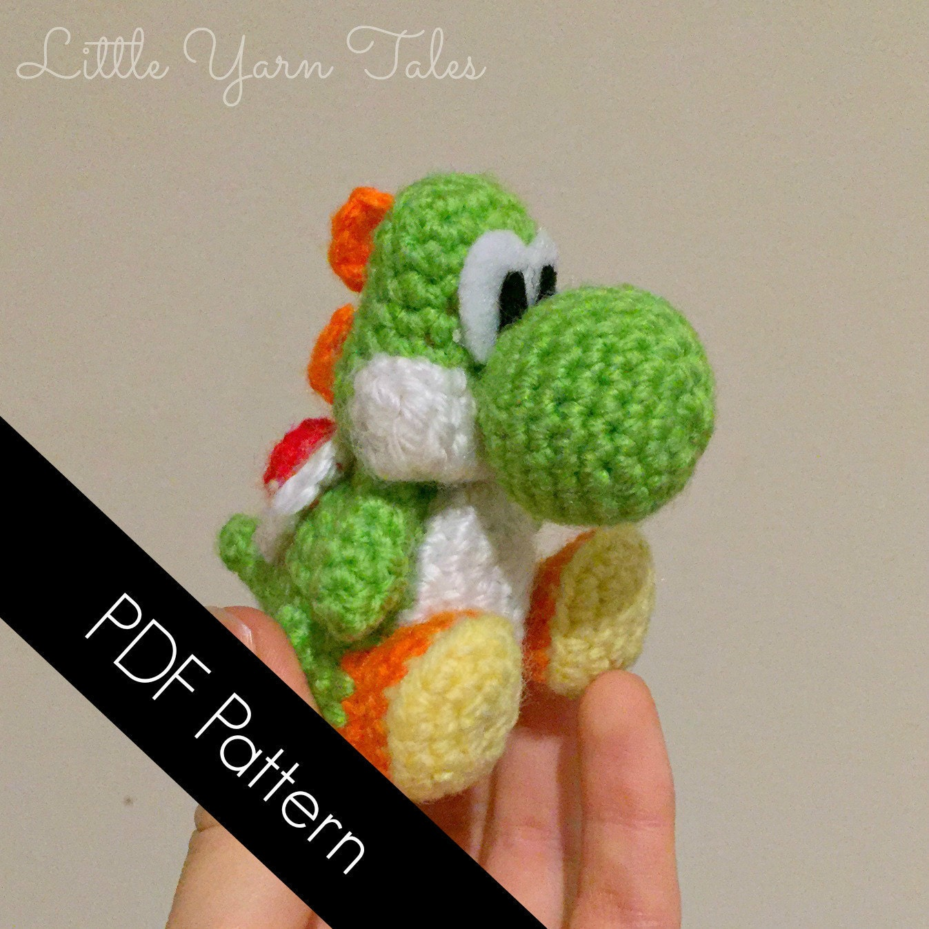 Yoshi-inspired amigurumi PDF WRITTEN PATTERN by LittleYarnTales