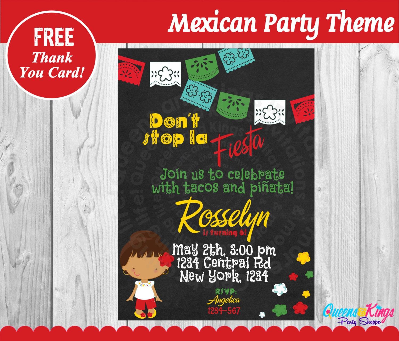 Mexican Fiesta Invitation Cinco de Mayo Invitation Fiesta