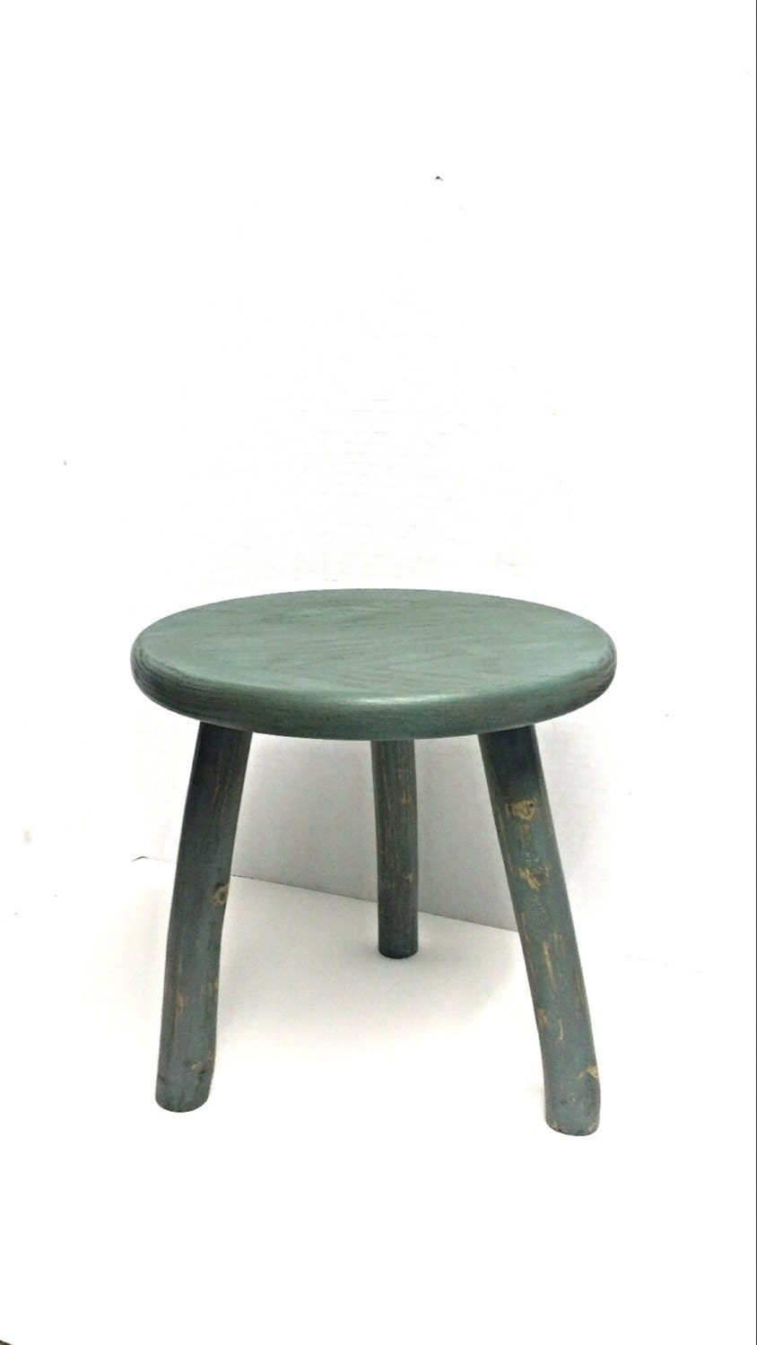 Wooden Stool Milking Stool 3 Legged Stool Painted