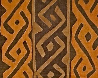 Kuba Cloth Ceremonial Skirt/Panel Raffia Applique Textile Currency African *11