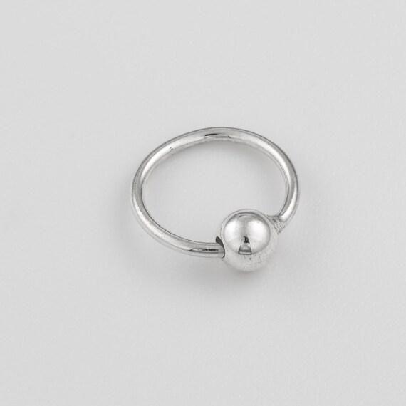 9 mm Sterling silver nose ring. nose ring hoop. nose ring. nose jewelry. nose hoop. silver nose ring. nose piercing. helix hoop. tragus hoop