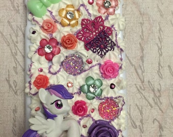 My Little Pony iPhone 6 Phone Case! Flowers and Kawaii Decoden! Handmade!