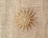 Vintage Pearl Starburst Brooch