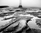 Lighthouse print, black and white photography, landscape, fine art photography, framed print, nautical, framed art, 5x7, 8x12, 12x18, 16x24
