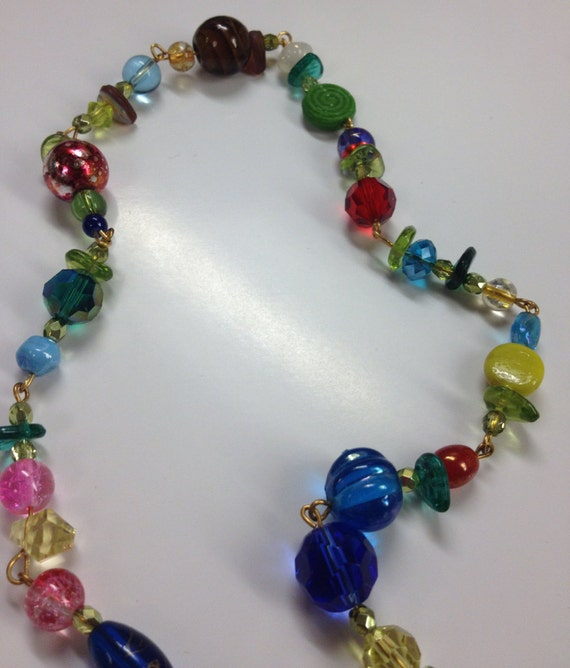 amazing colorful beaded necklace or bracelet a two for one