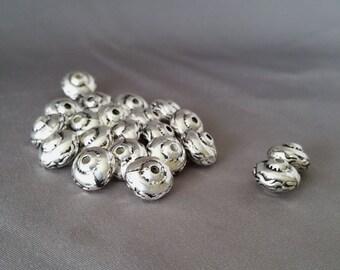 Base Metal Bead Strand of 21 Beads LVL1-029