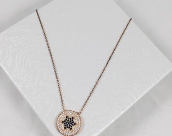 SALE - Star Necklace - You are my Star Necklace - Simple Necklace - Gold Plated Sterling Silver - Cubic Zirconia Stones