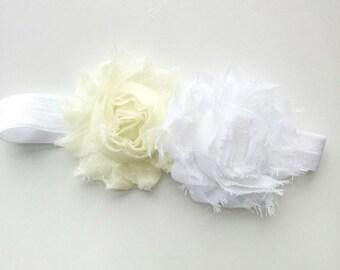 White baby headband, newborn headband, ivory headband, christening headband, baby headband, girls headband, baby bow, baby girl headband