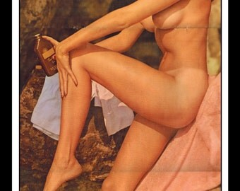 """Mature Playboy May 1962 : Playmate Centerfold Marya Carter 3 Page Spread Photo Wall Art Decor 11"""" x 23"""""""