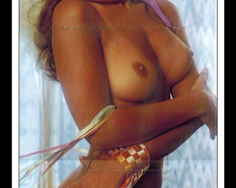 "Mature Playboy Febuary 1976 : Playmate Centerfold Laura Lyons 3 Page Spread Photo Wall Art Decor 11"" x 23"""