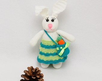 Easter bunny Crochet Toys Rabbit Stuffed Animals Easter decoration Easter rabbit Soft toy Bunny with carrot kids gift for kids Easter gift
