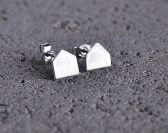 Sterling Silver House Studs