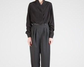 Silk Extravagant Loose Shirt / Asymmetrical Shirt / Oversize Summer Autumn Top Silvana Maiorano