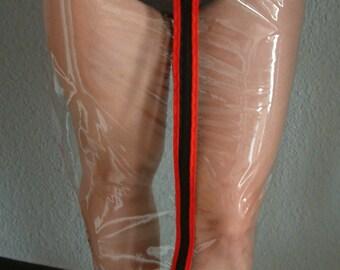 TRANSPARENT PVC Hobble Skirt