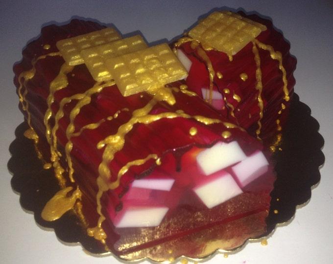 Glycerin Soap Cake, Designer Soap, Handmade Soap, Specialty Soap - Artfully designed Scented Soap Cake - Table Centerpiece - Unique Gift