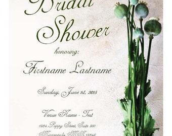 Poppy Bud Bridal Shower Invite - Customize it!
