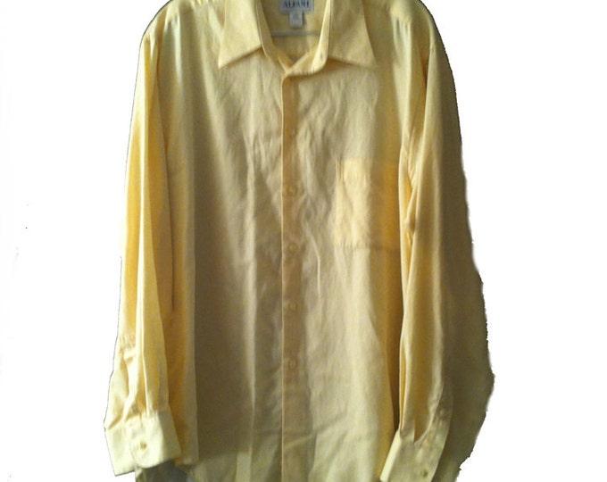 XL Alfani Pale Yellow Long Sleeve Button Up