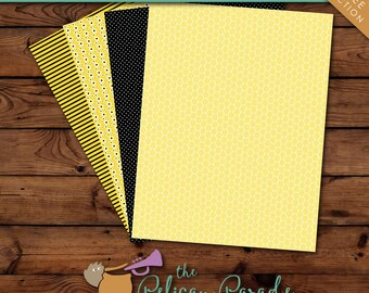 Bumblebee Party Printable Paper