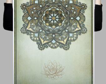 Mandala, Lotus, Gold,Yoga, Zen or Meditation Digital Art Download Print or Poster
