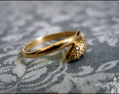 Antique Victorian 18K Solid Gold French Snake Wedding Engagement Ring with Ruby Eyes - Edwardian Art Nouveau - Fantastic Details