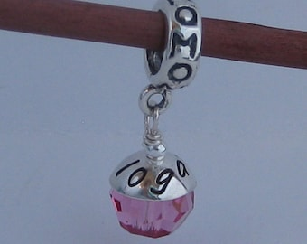 MOTHER'S DAY The Mommy bead Custom Name Charm - LIMITED edition - Fits large hole charm bracelet, personalized name charm