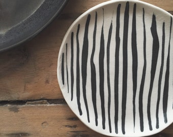 Striped Porcelain Plate